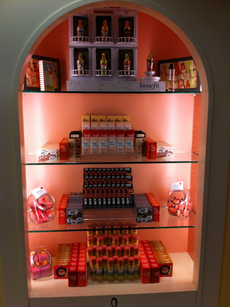 The displays at Benefit