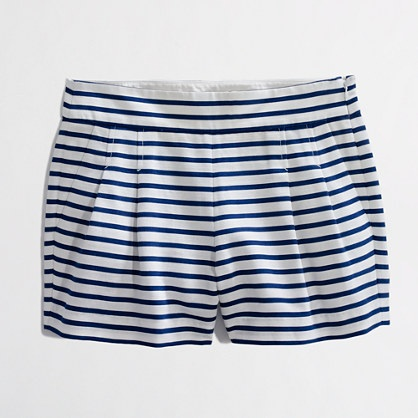JCrew Factory Pleated Stripe Short